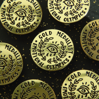 Emotional Olympics Enamel Pin