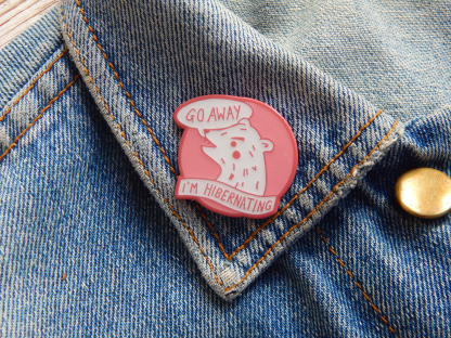 Go Away Grumpy Bear Enamel Pin