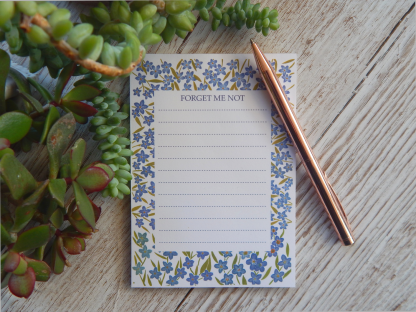 Forget Me Not Cute Stationery Notes Jotter Pad