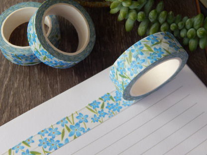 Forget Me Not Floral Washi Tape